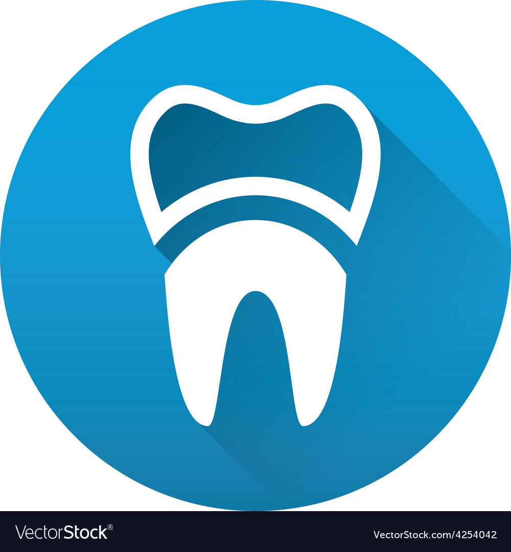 Tooth flat icon vector | Price: 1 Credit (USD $1)
