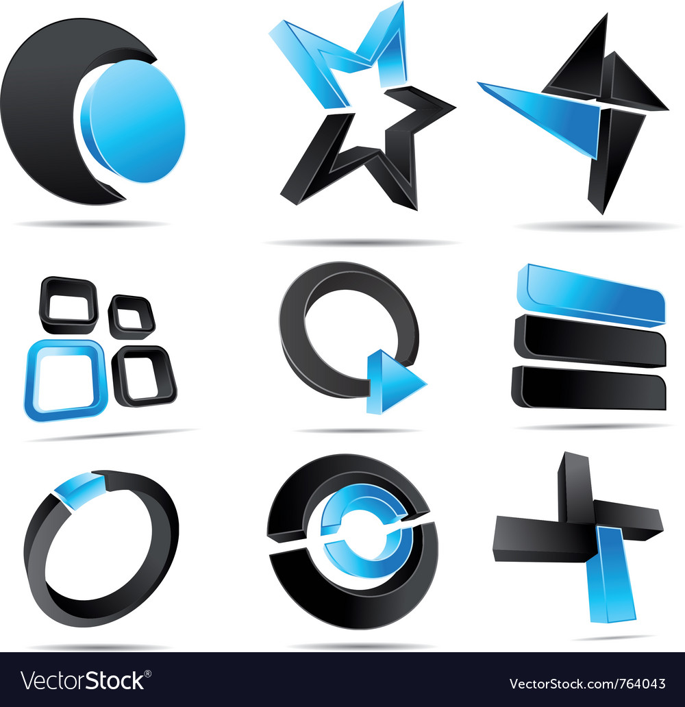 3d logo forms vector | Price: 1 Credit (USD $1)