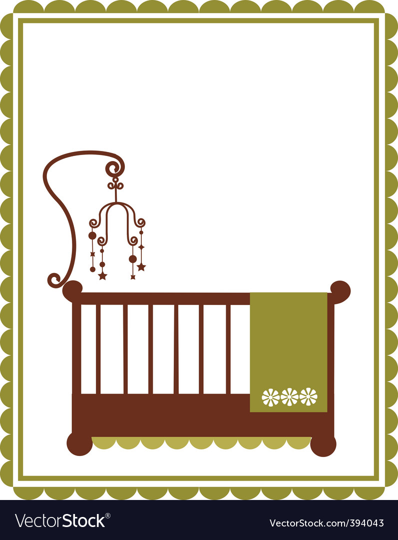 Baby crib vector | Price: 1 Credit (USD $1)