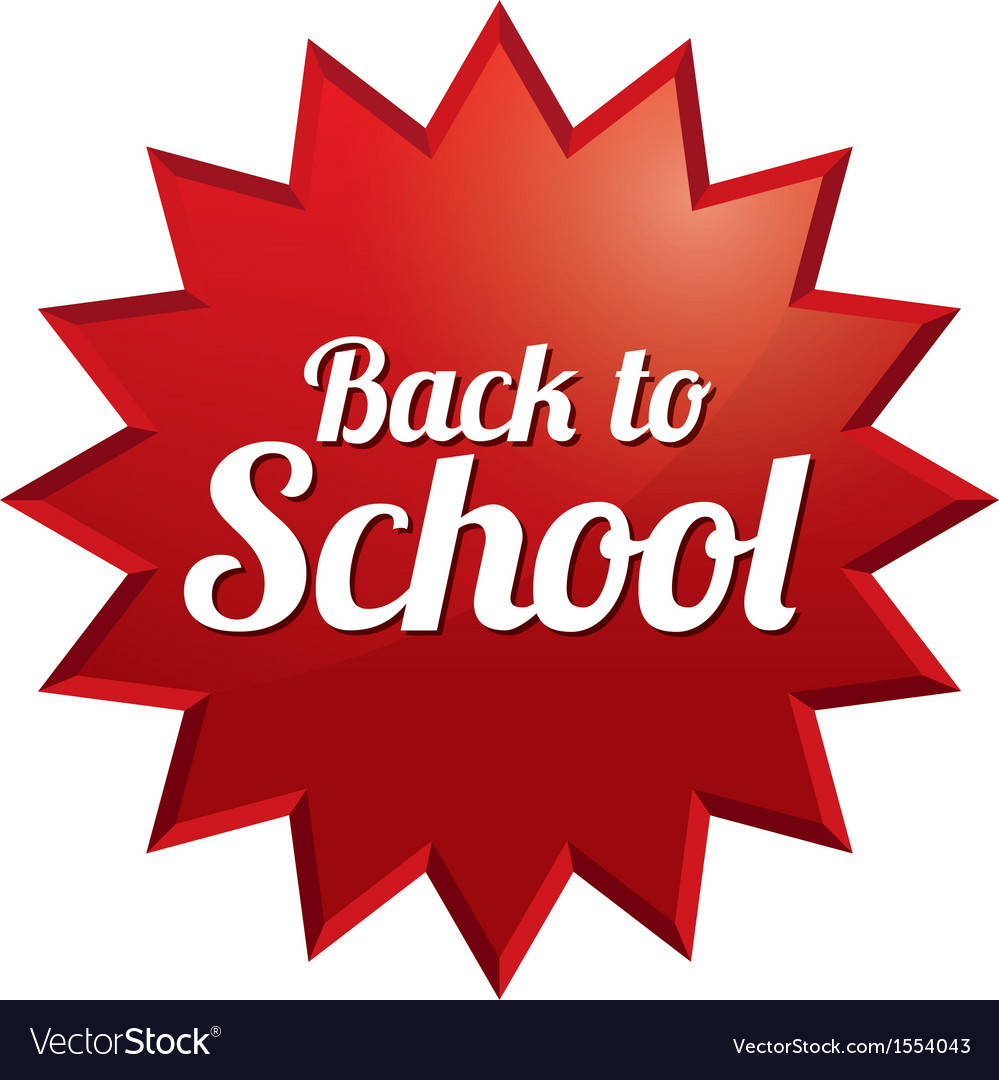 Back to school price tag sticker with texture vector | Price: 1 Credit (USD $1)