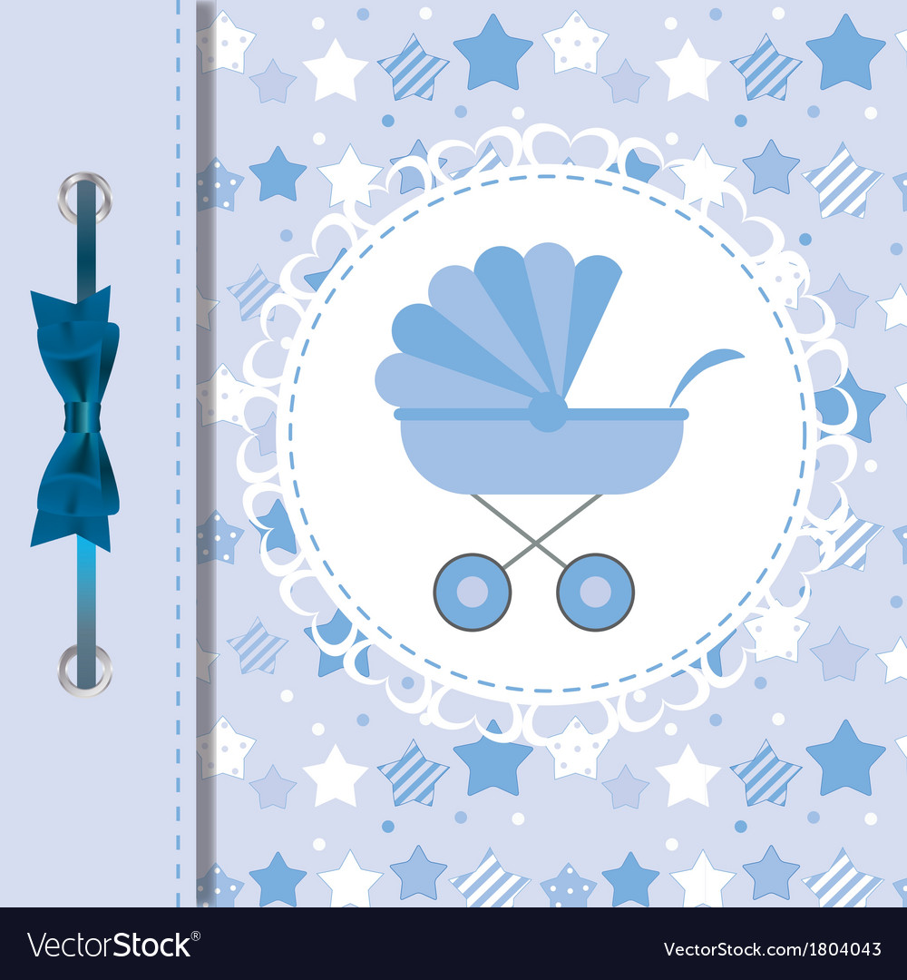 Blue baby carriage for newborn boy vector | Price: 1 Credit (USD $1)