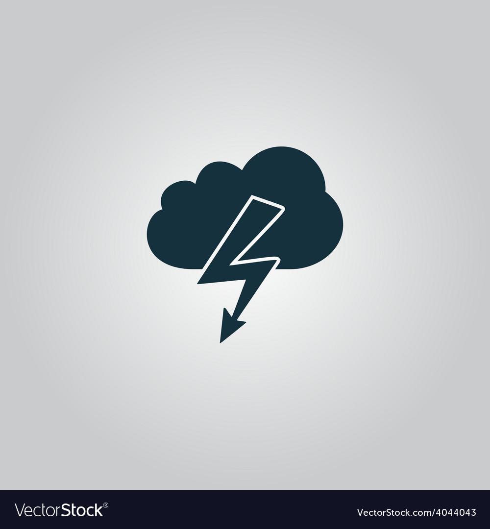 Cloud lightning icon vector | Price: 1 Credit (USD $1)