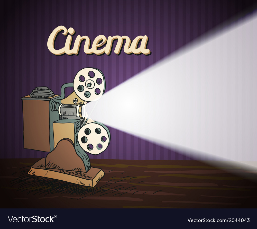 Doodle cinema projector vector | Price: 1 Credit (USD $1)