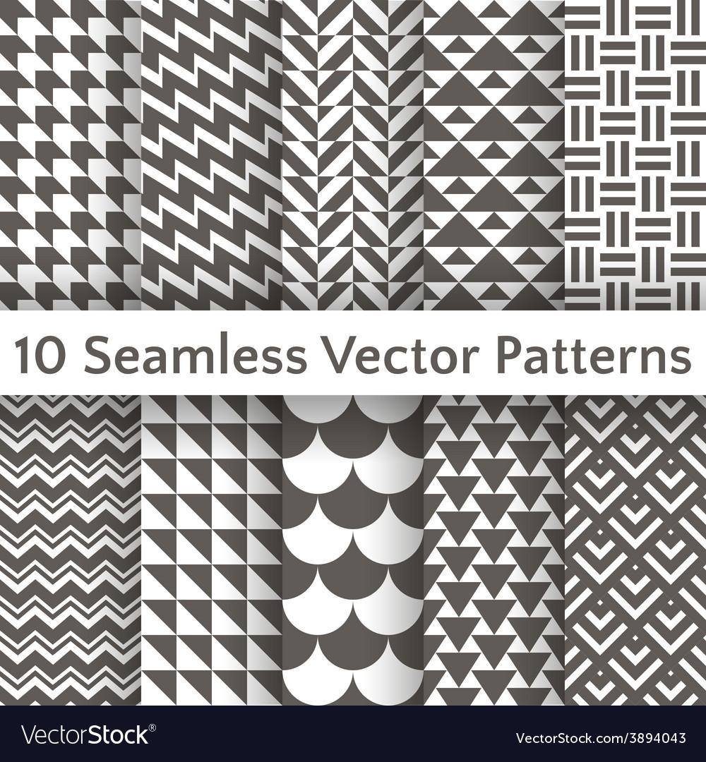 Fashionable geometric seamless pattern set vector | Price: 1 Credit (USD $1)