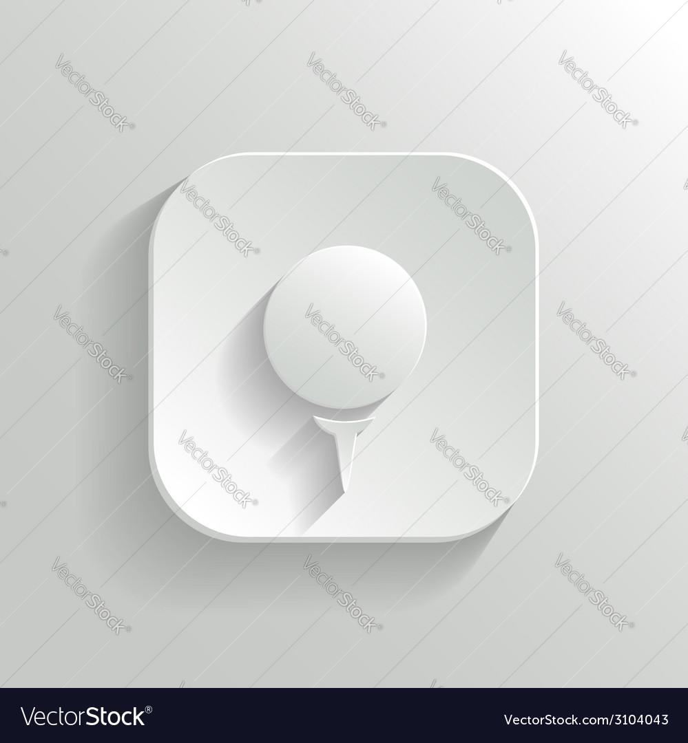 Golf icon - white app button vector   Price: 1 Credit (USD $1)