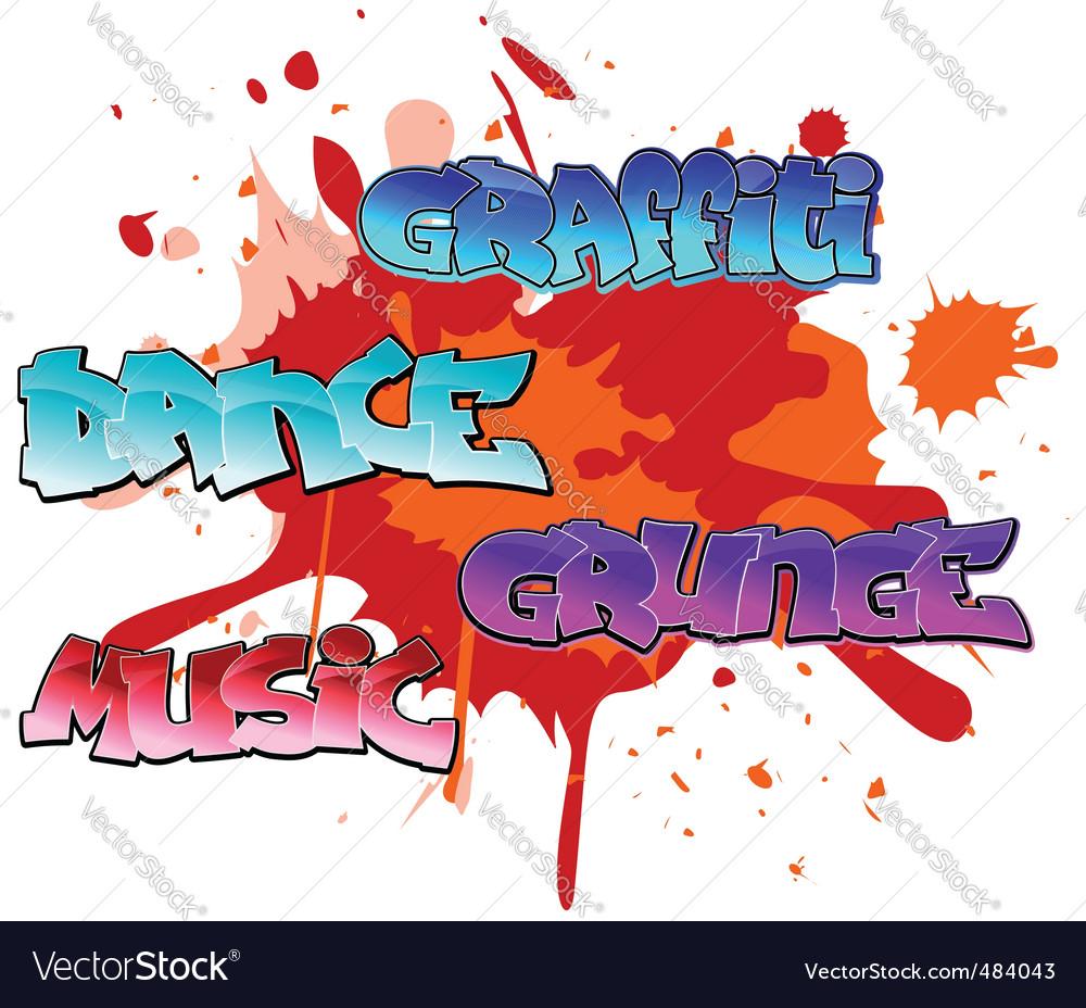 Graffiti elements background vector | Price: 1 Credit (USD $1)