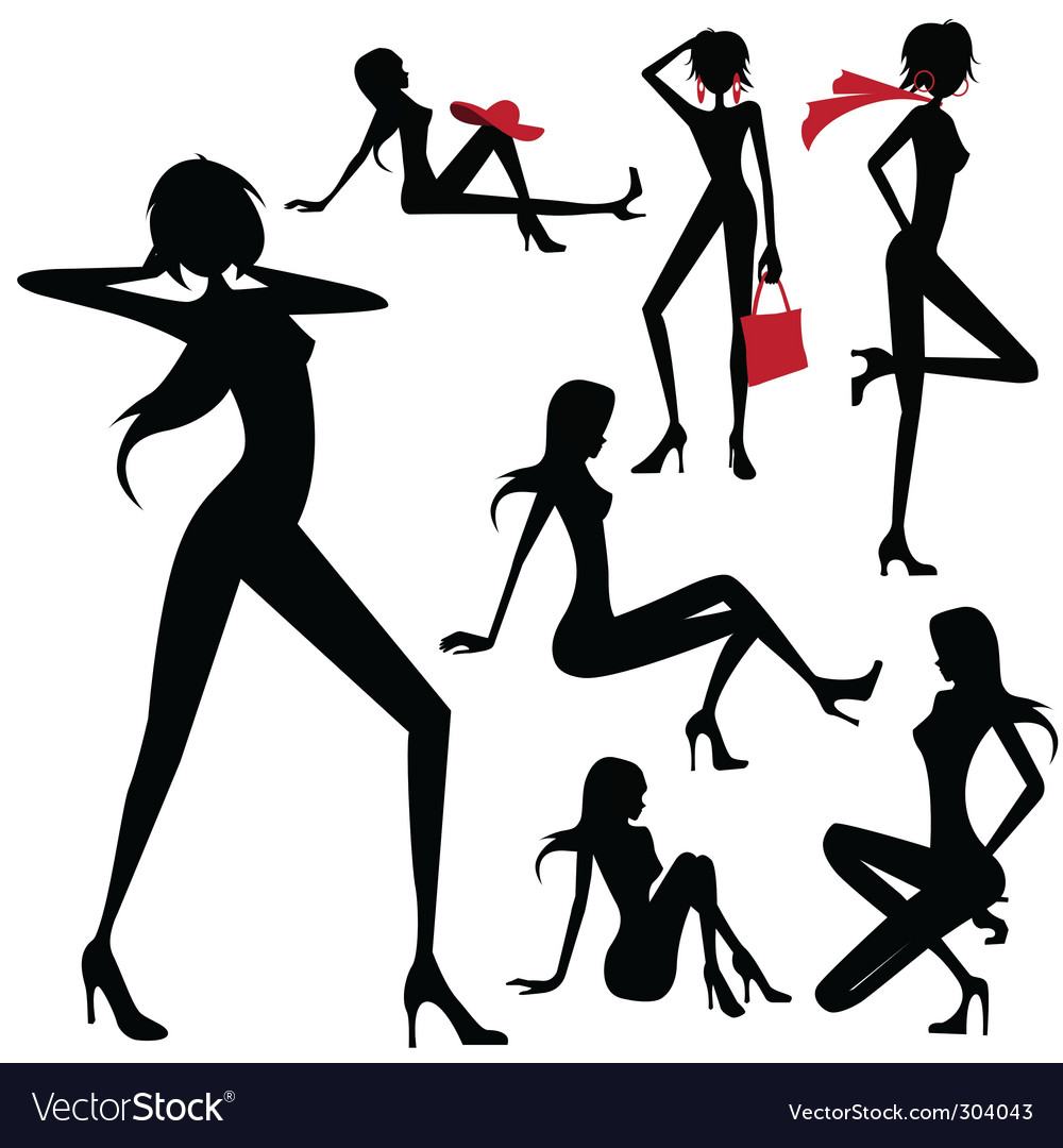 Model woman vector | Price: 1 Credit (USD $1)