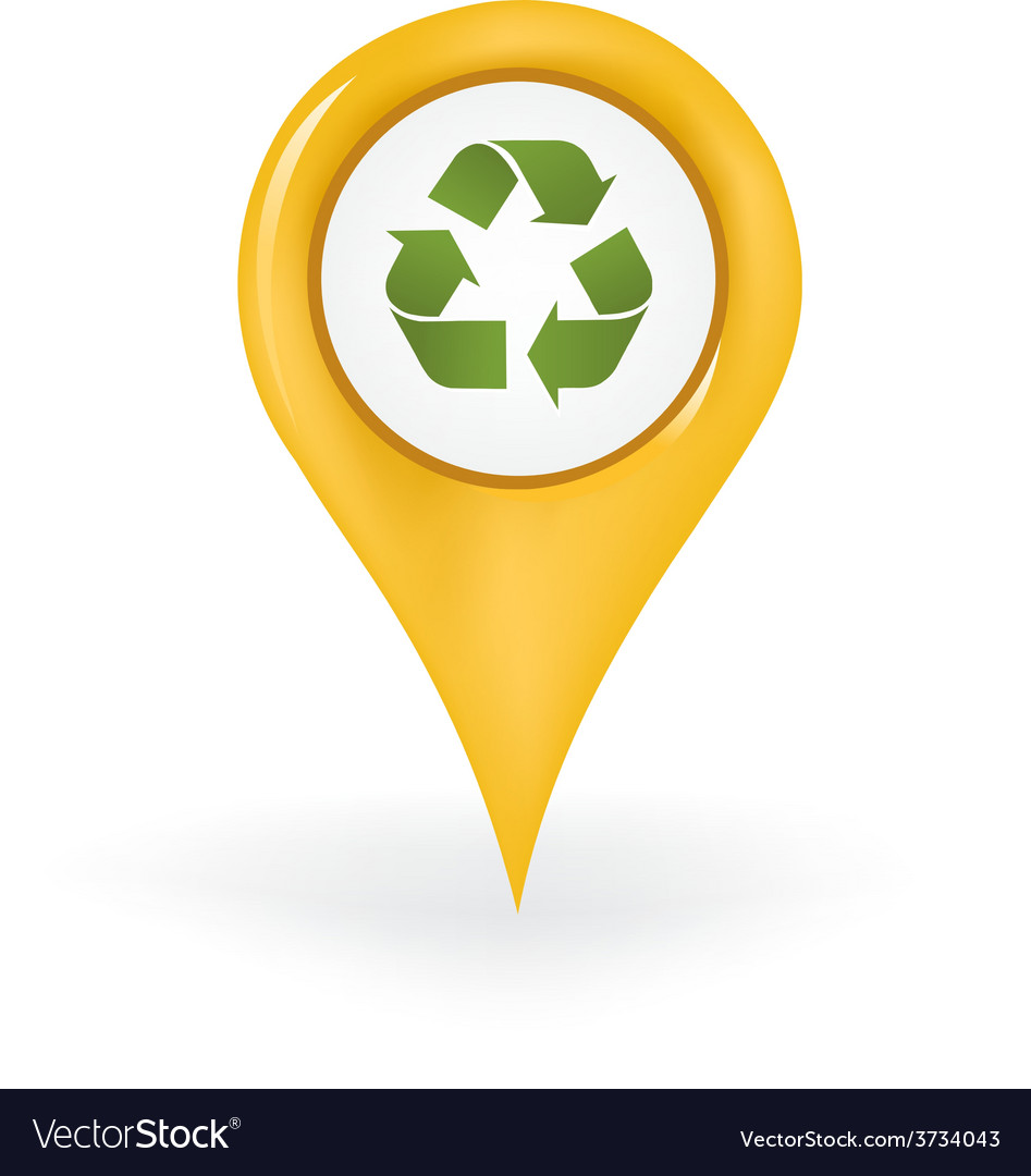 Recycling location vector | Price: 1 Credit (USD $1)