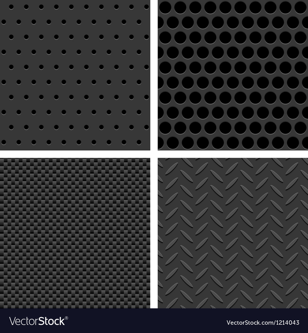 Seamless metal texture patterns vector | Price: 1 Credit (USD $1)