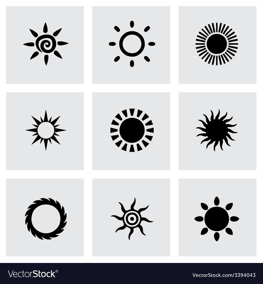 Sun icon set vector | Price: 1 Credit (USD $1)
