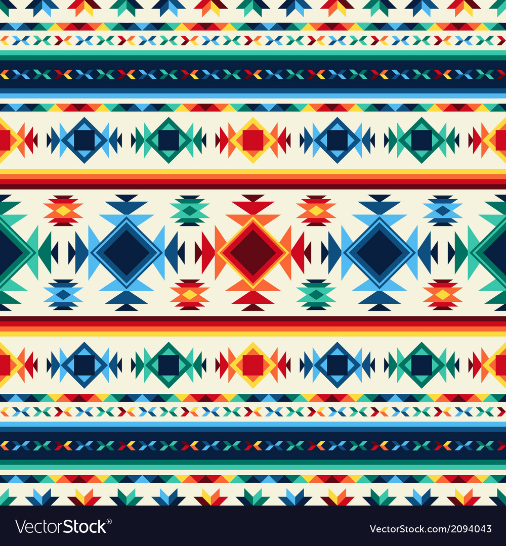 Tribal abstract seamless pattern aztec geometric vector | Price: 1 Credit (USD $1)