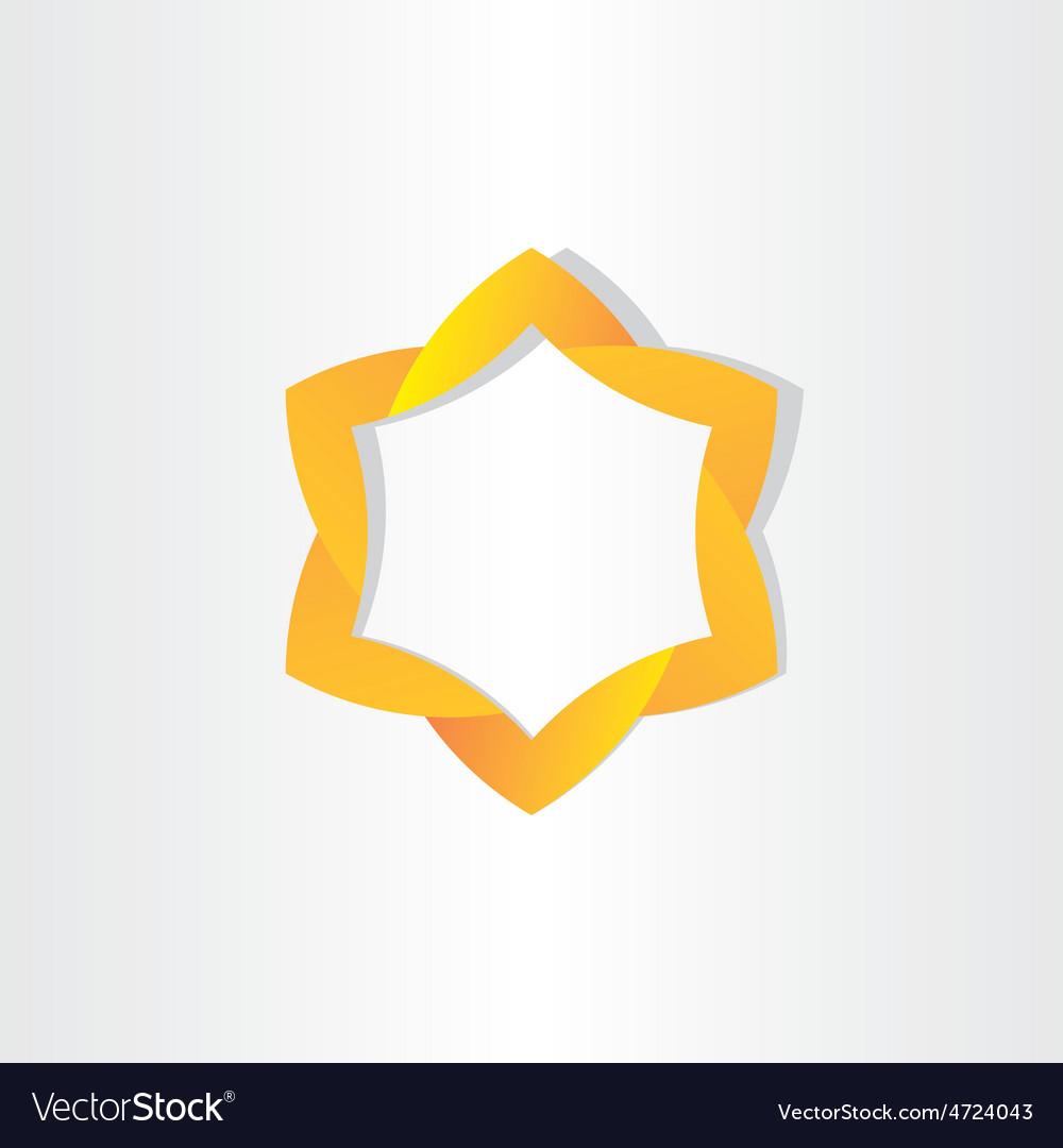 Yellow star symbol design vector   Price: 1 Credit (USD $1)