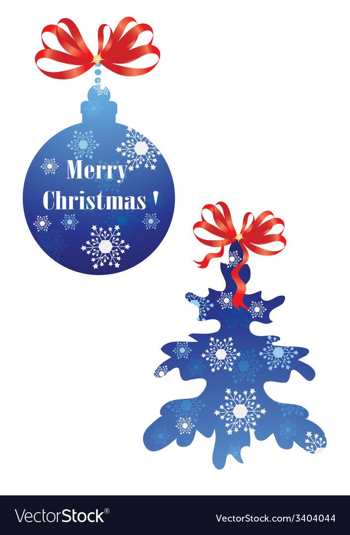 Christmas ball and christmas tree vector   Price: 1 Credit (USD $1)