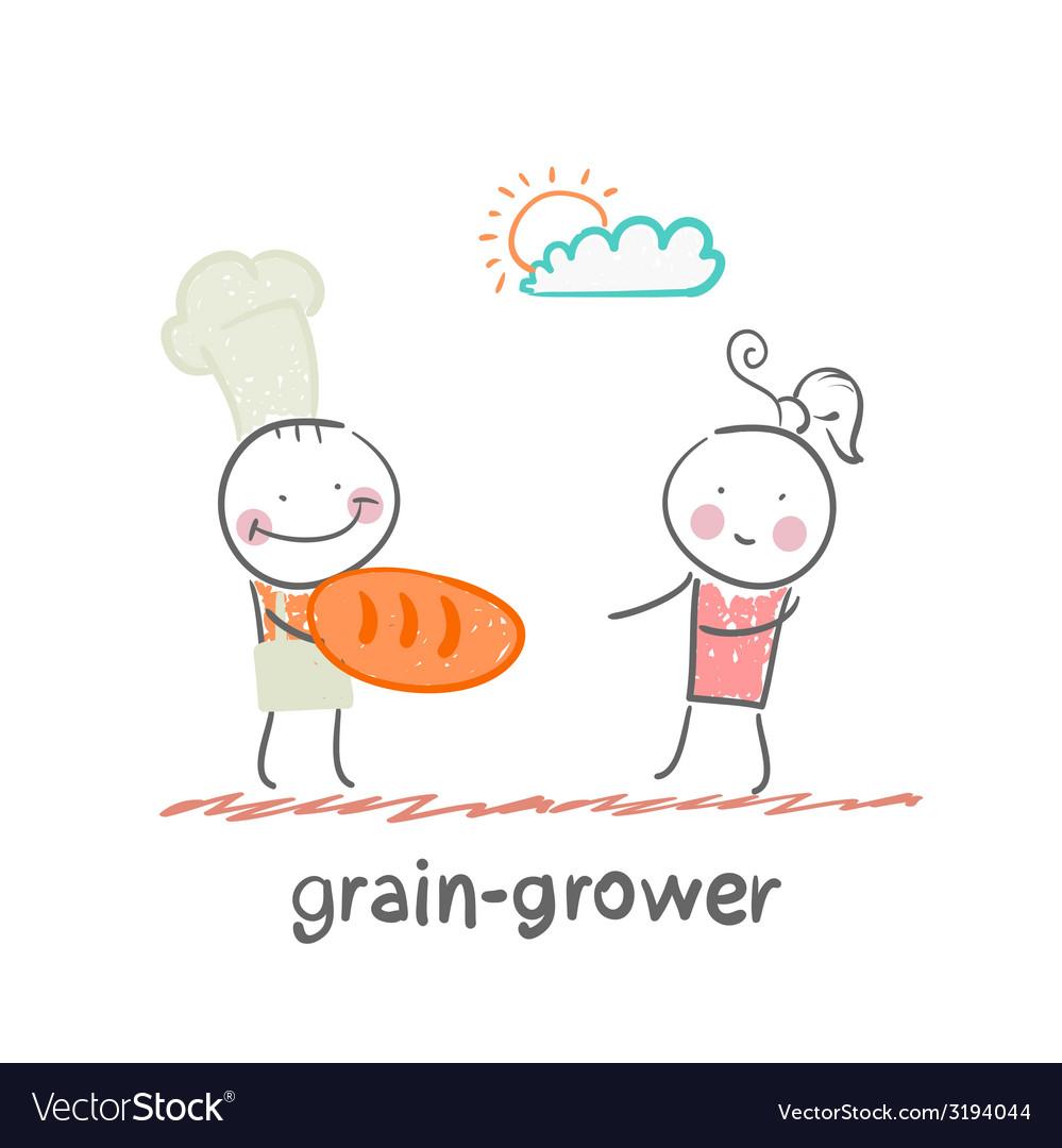 Grain grower vector | Price: 1 Credit (USD $1)