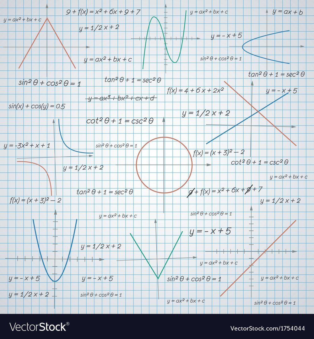 Mathematics paper background vector   Price: 1 Credit (USD $1)