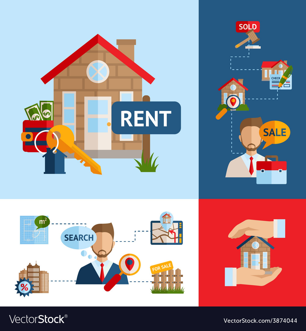 Real estate concept set vector | Price: 1 Credit (USD $1)