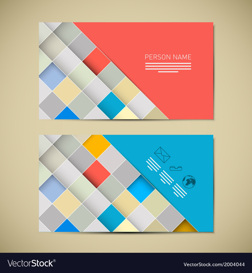 Retro paper business card template vector | Price: 1 Credit (USD $1)