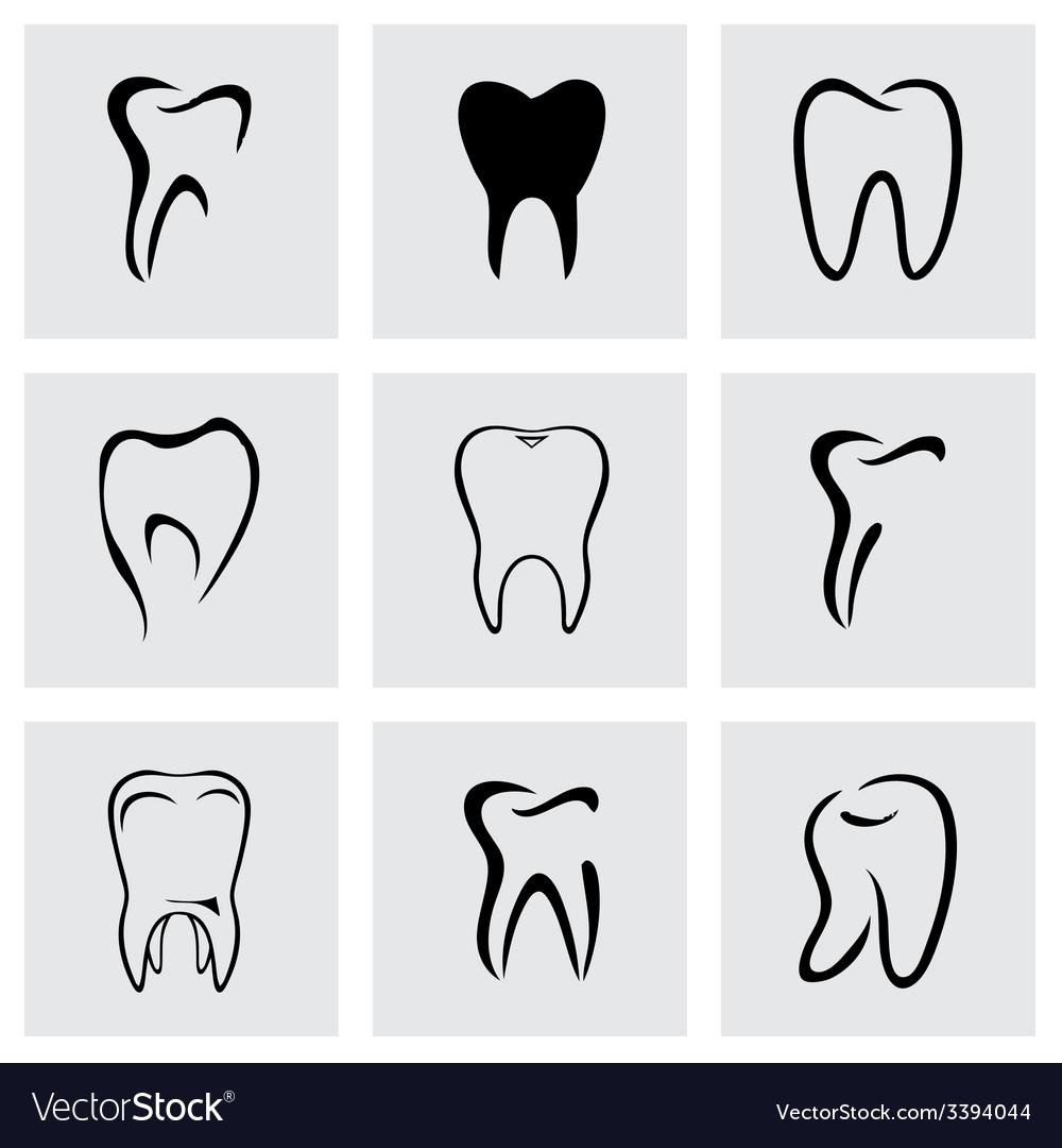 Teeth icon set vector | Price: 1 Credit (USD $1)