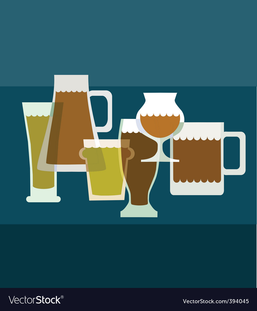 Alcoholic drinks vector | Price: 1 Credit (USD $1)