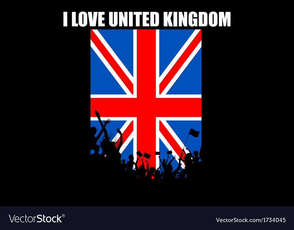 Brithish people cheering vector   Price: 1 Credit (USD $1)