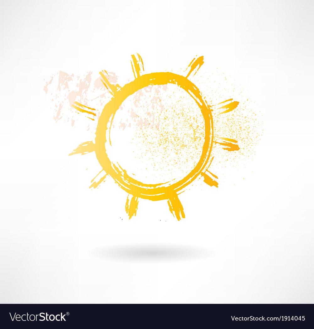 Brush sun icon creative nature vector   Price: 1 Credit (USD $1)
