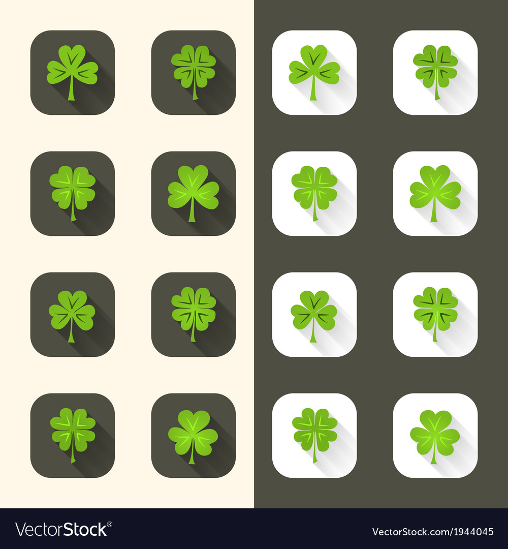 Clover icon set vector | Price: 1 Credit (USD $1)