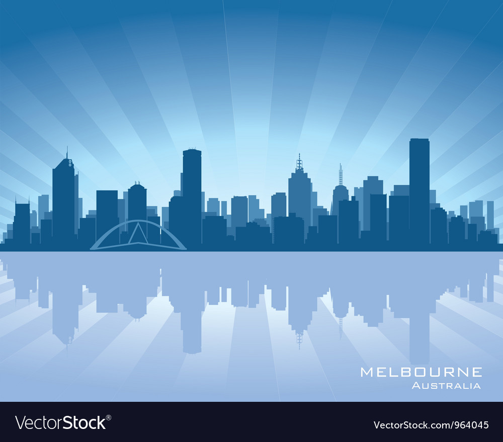 Melbourne australia skyline vector | Price: 1 Credit (USD $1)