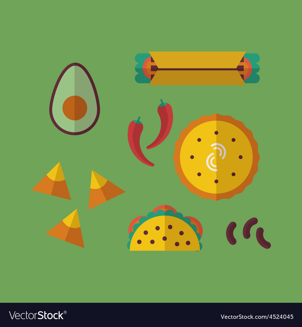 Mexican food vector | Price: 1 Credit (USD $1)