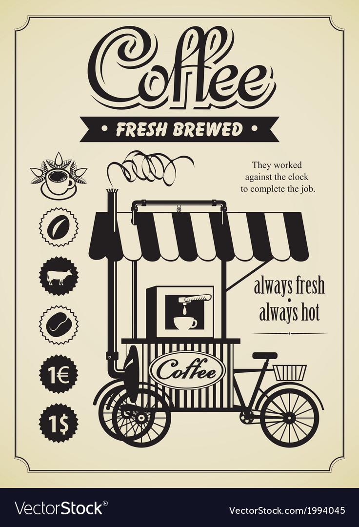 Mobile coffee shop vector
