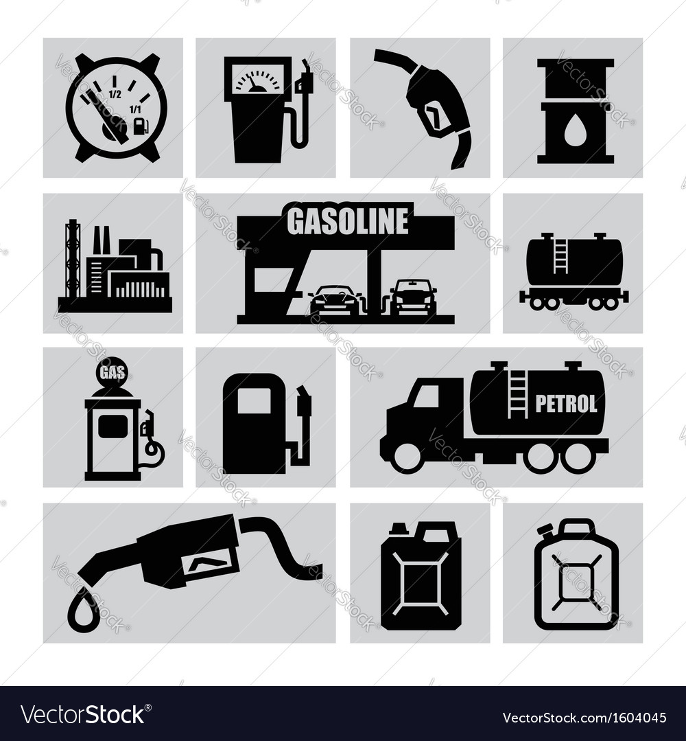 Petrol icons vector | Price: 1 Credit (USD $1)