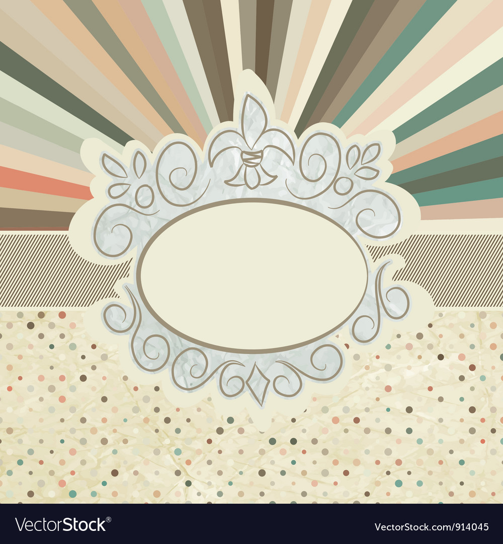 Retro sun burst vector | Price: 1 Credit (USD $1)