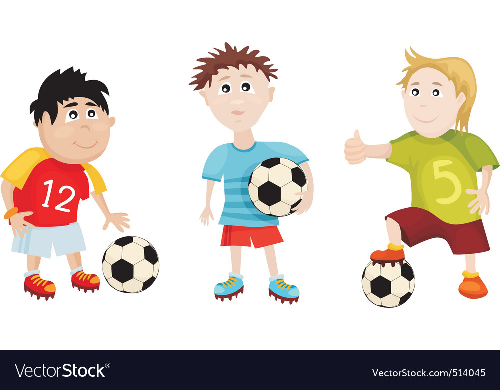 Soccer cartoons vector | Price: 3 Credit (USD $3)