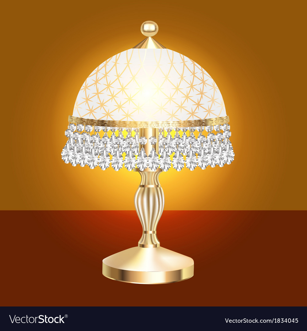 Table lamp with crystal vector | Price: 1 Credit (USD $1)