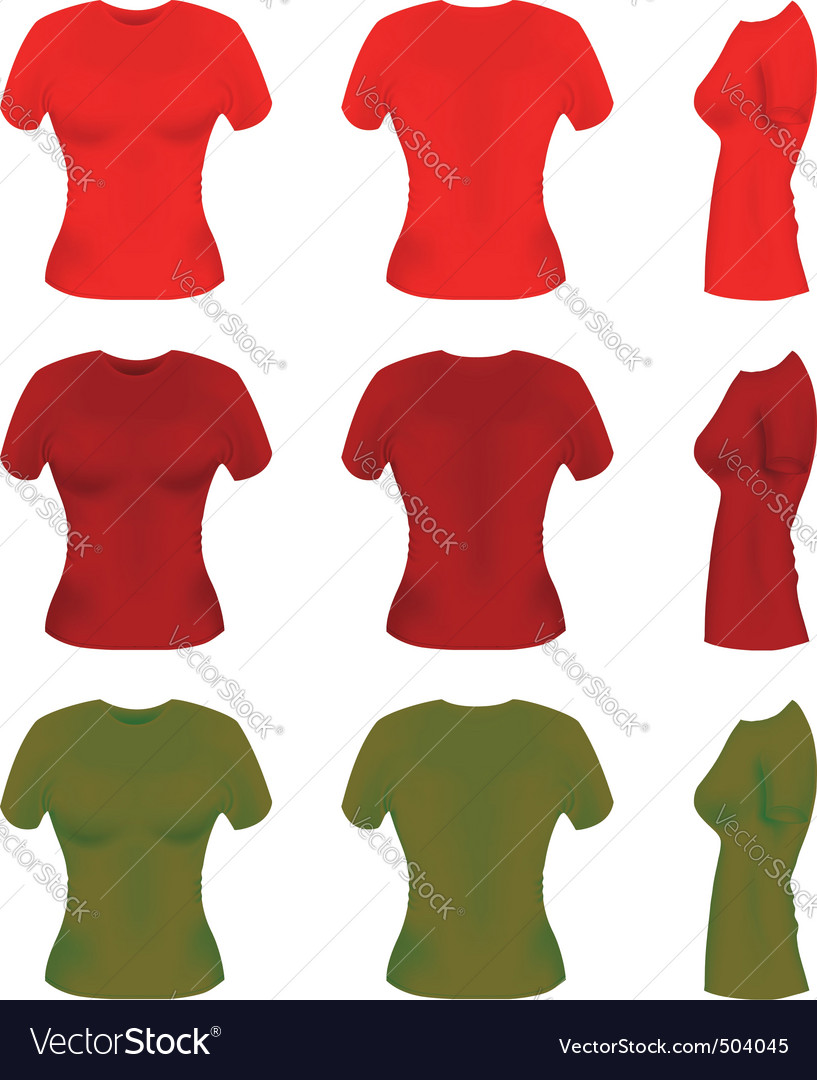 Women t-shirt templates vector | Price: 1 Credit (USD $1)