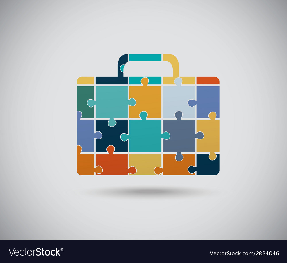 Abstract color suitcase vector | Price: 1 Credit (USD $1)
