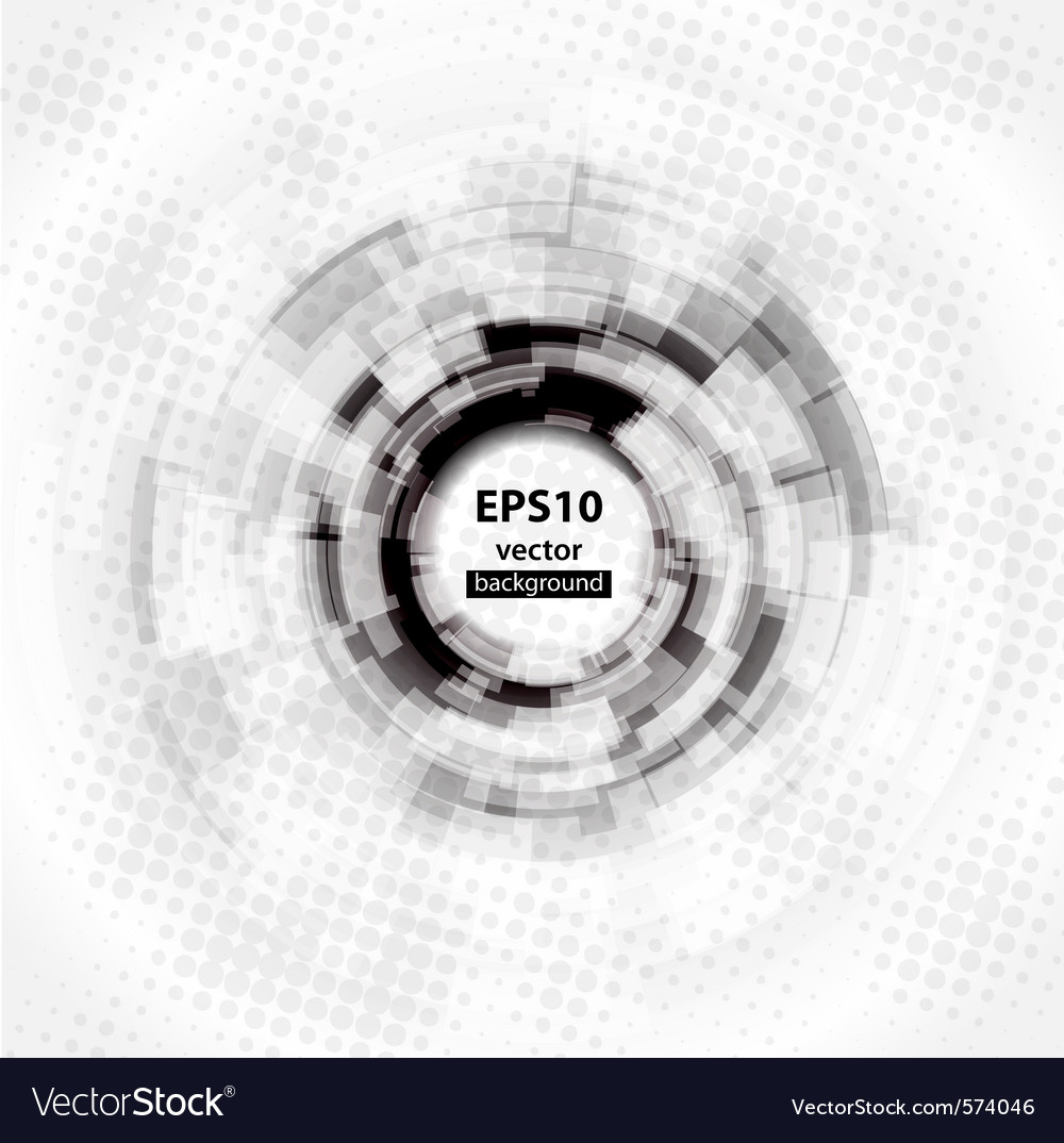 Abstract techno circle background vector | Price: 1 Credit (USD $1)