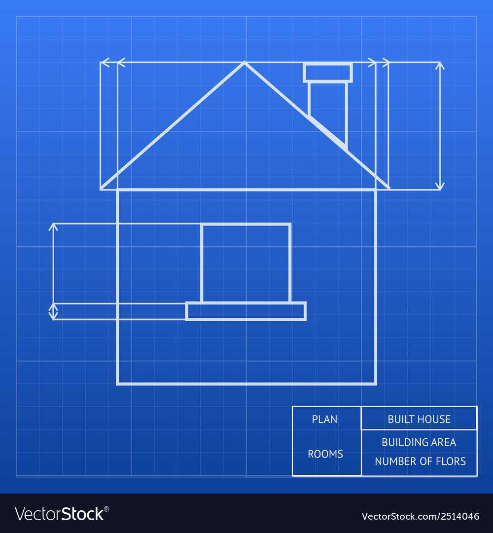 Blueprint of a house design vector | Price: 1 Credit (USD $1)