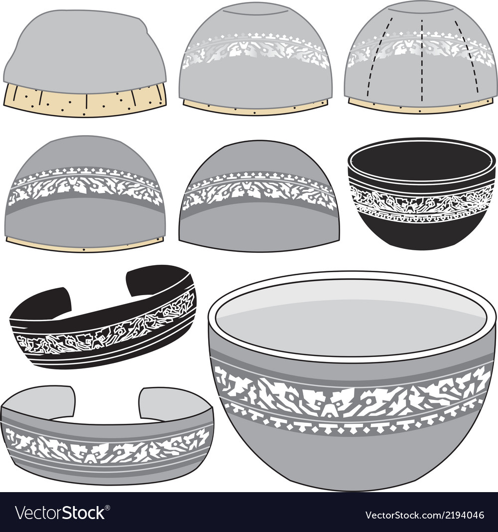 Chinaware silver vector | Price: 1 Credit (USD $1)