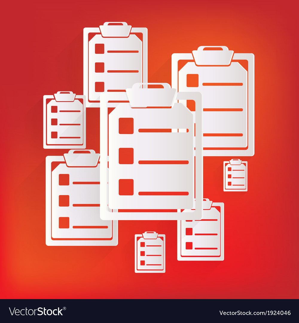 Clinical reportmedical data icon vector | Price: 1 Credit (USD $1)