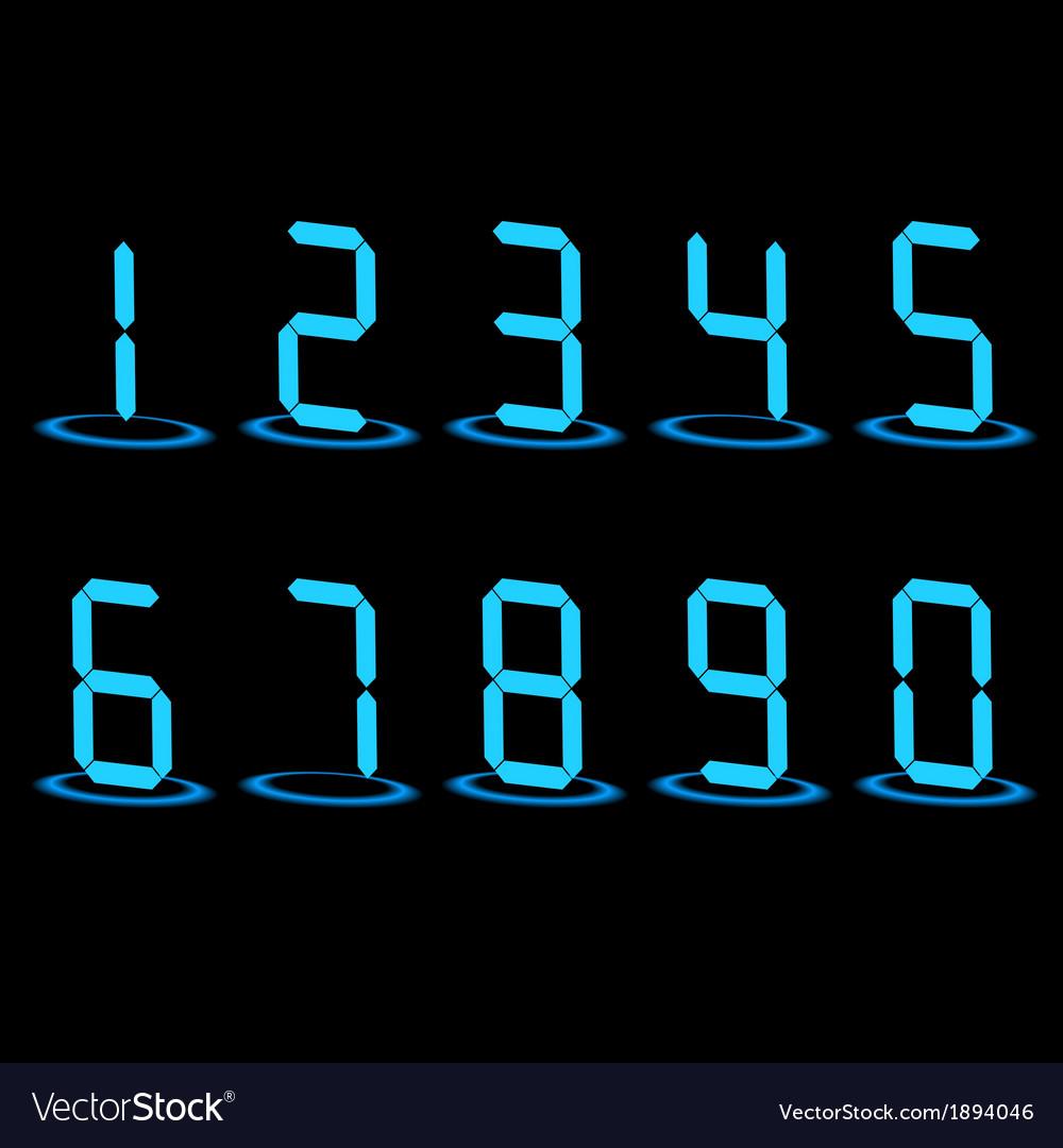 Digital led numbers vector | Price: 1 Credit (USD $1)