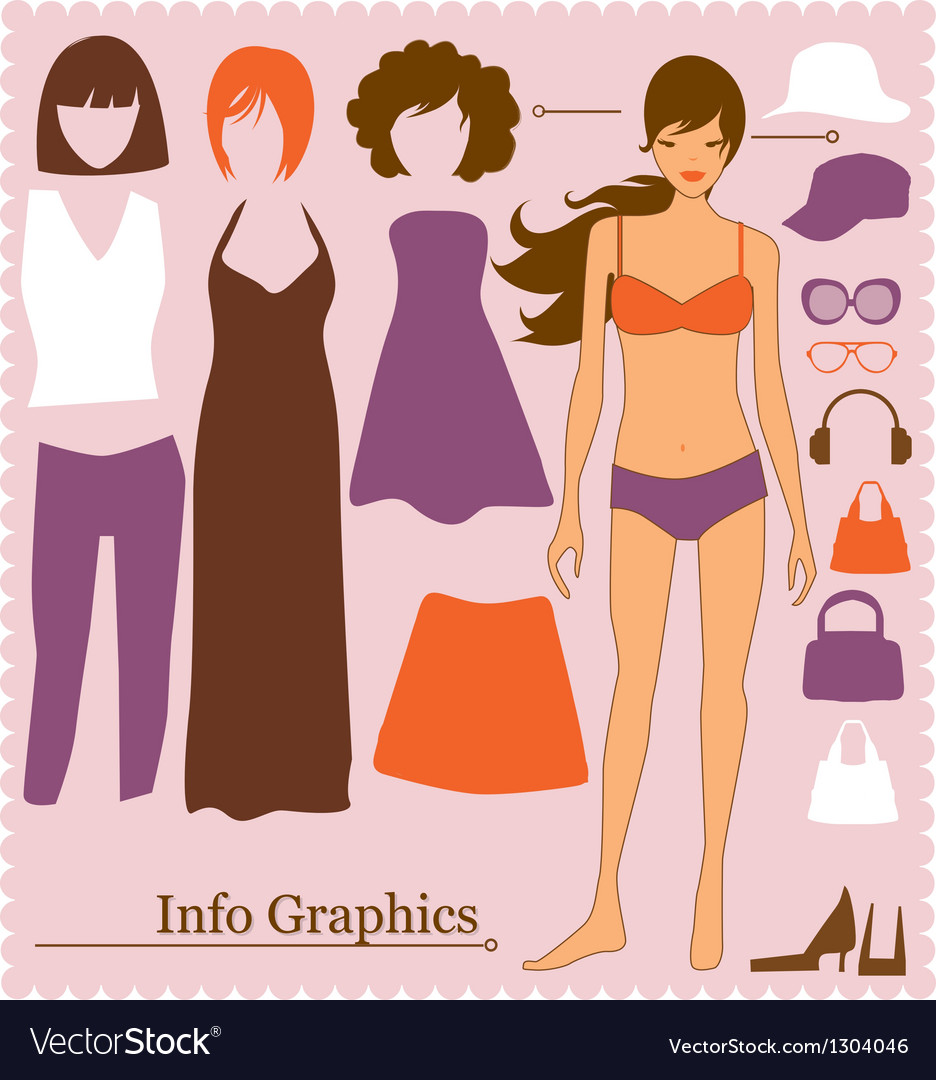 Fashion info graphics vector | Price: 1 Credit (USD $1)