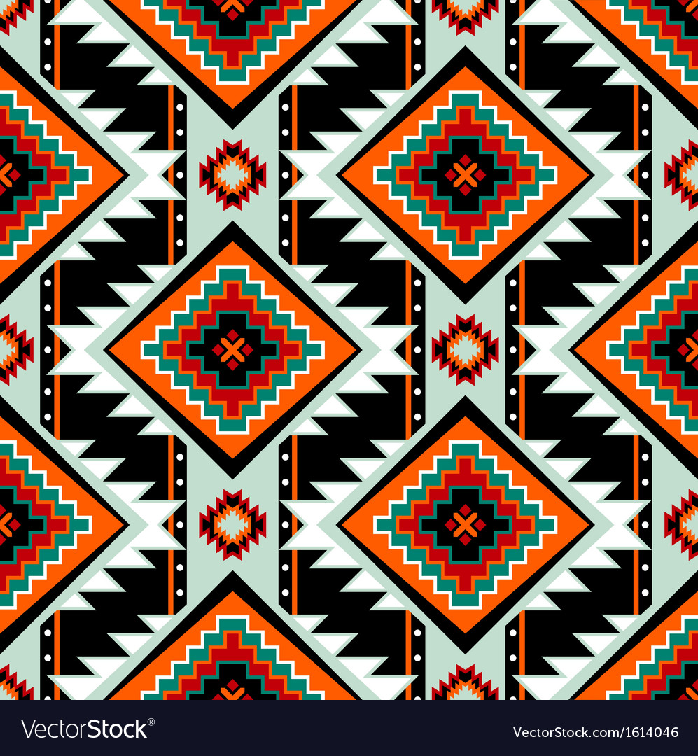 First nations seamless pattern vector | Price: 1 Credit (USD $1)