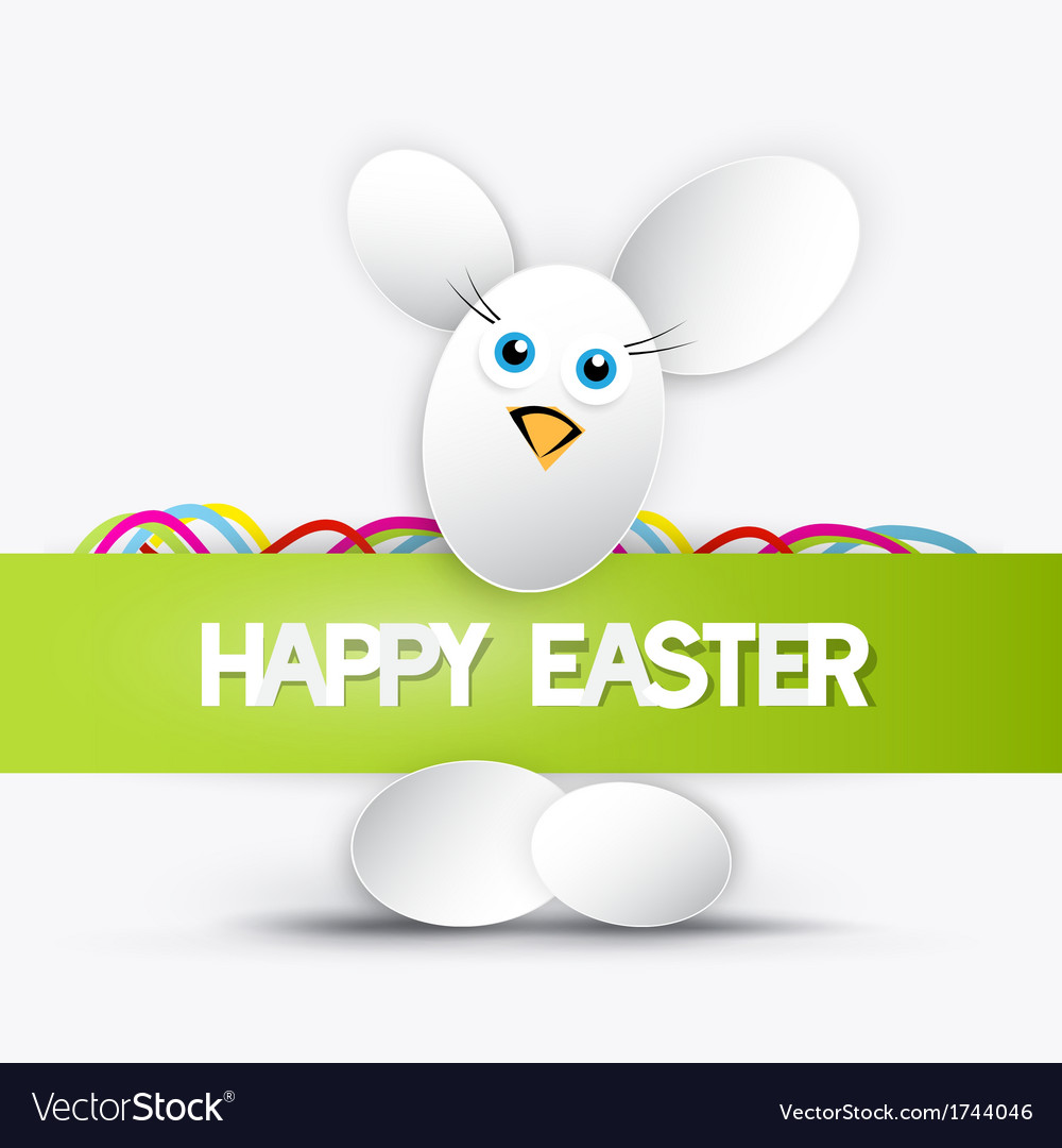 Happy easter theme vector | Price: 1 Credit (USD $1)