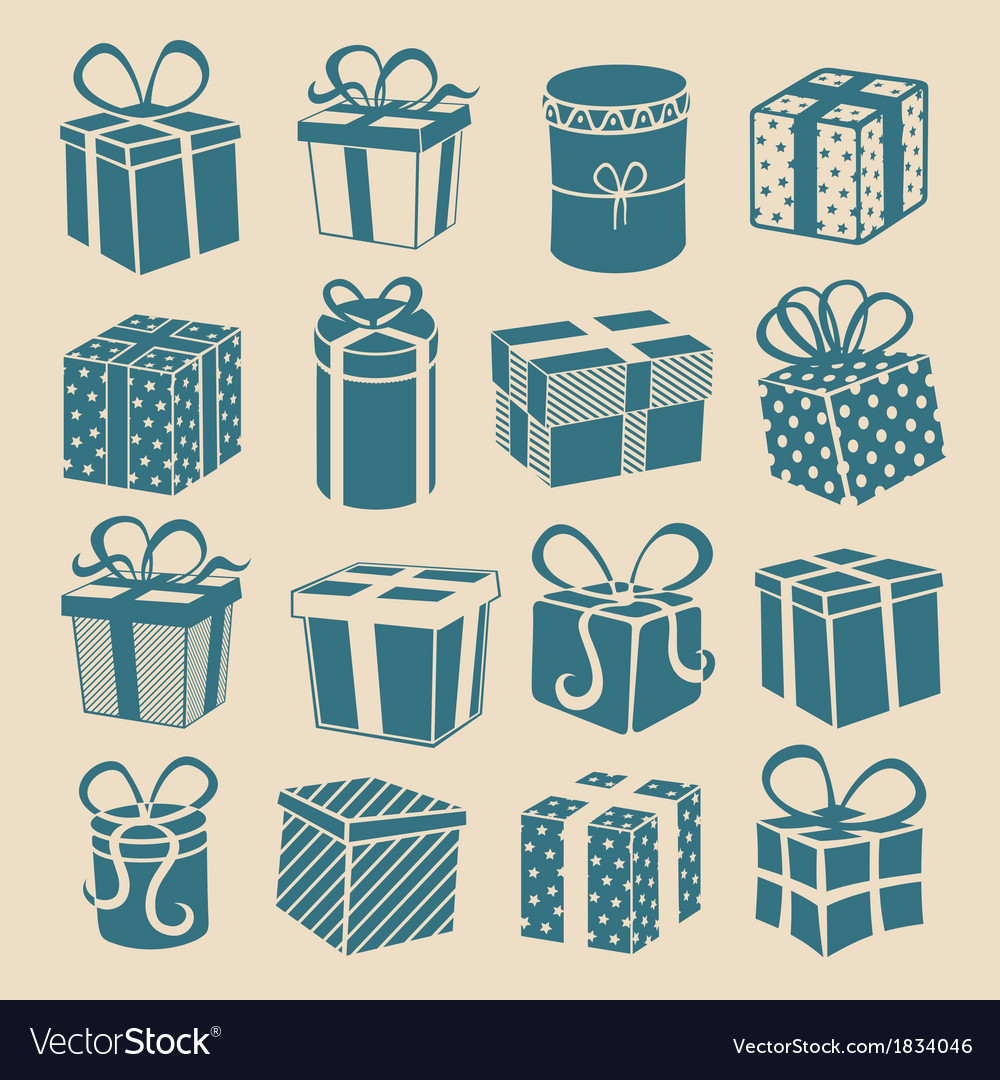 Silhouette gifts vector | Price: 1 Credit (USD $1)