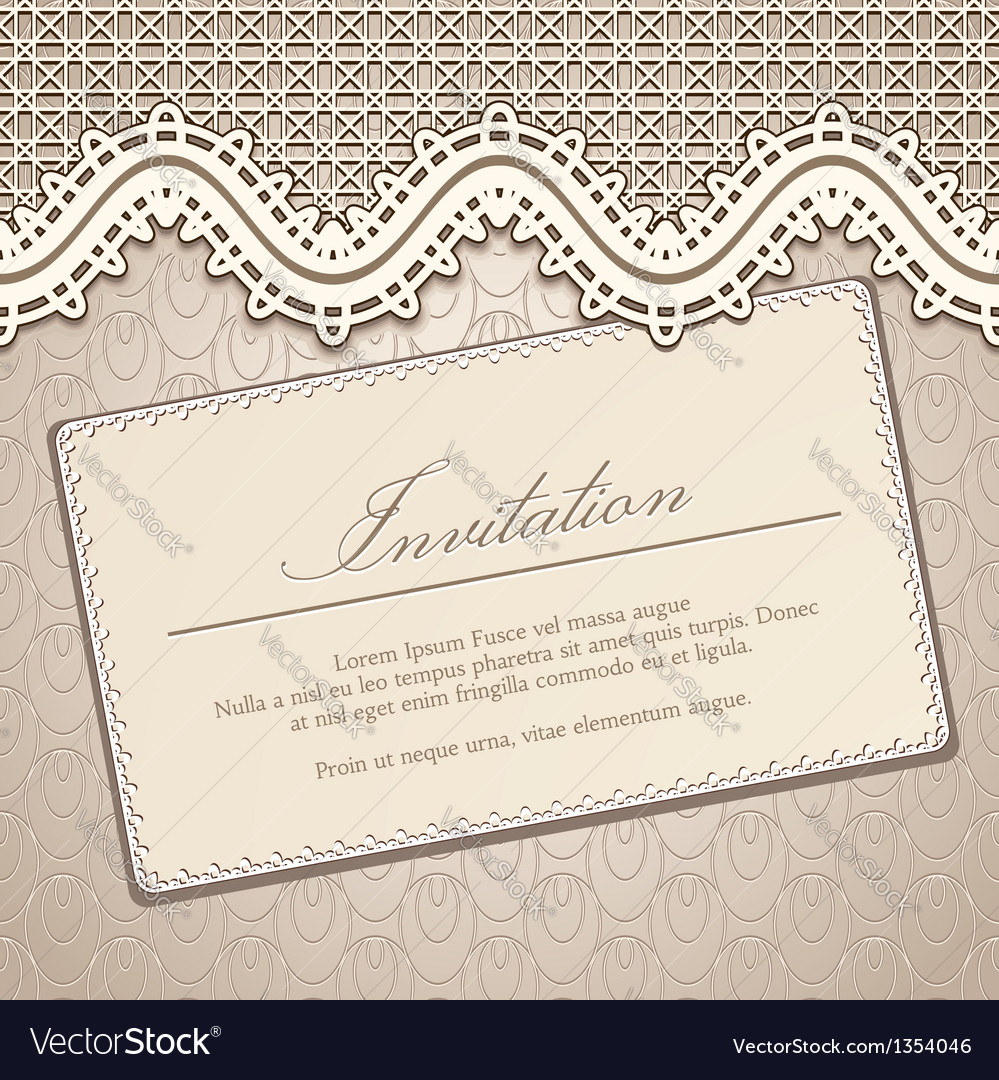 Vintage lace background vector | Price: 1 Credit (USD $1)