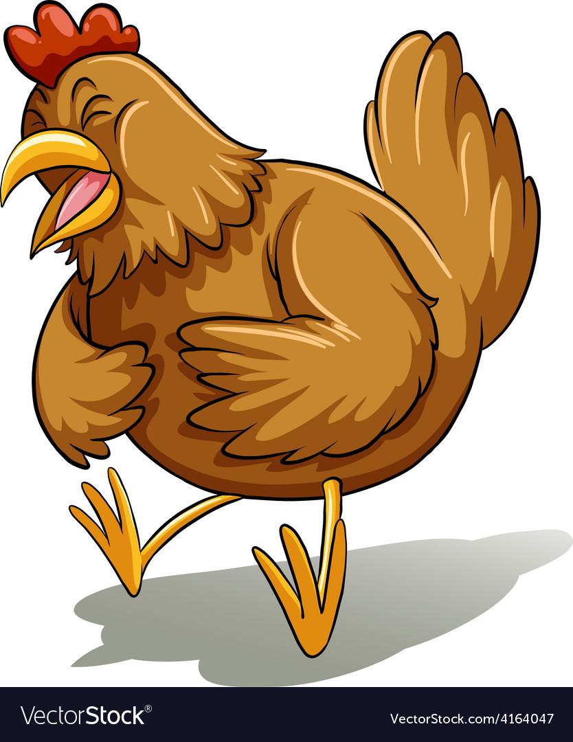 Brown fat hen vector | Price: 1 Credit (USD $1)