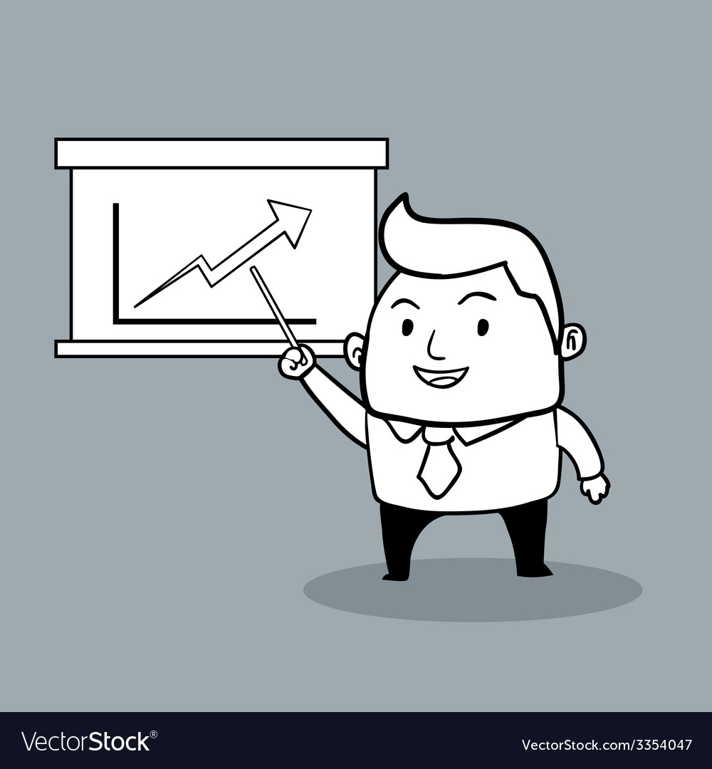 Business man present vector | Price: 1 Credit (USD $1)