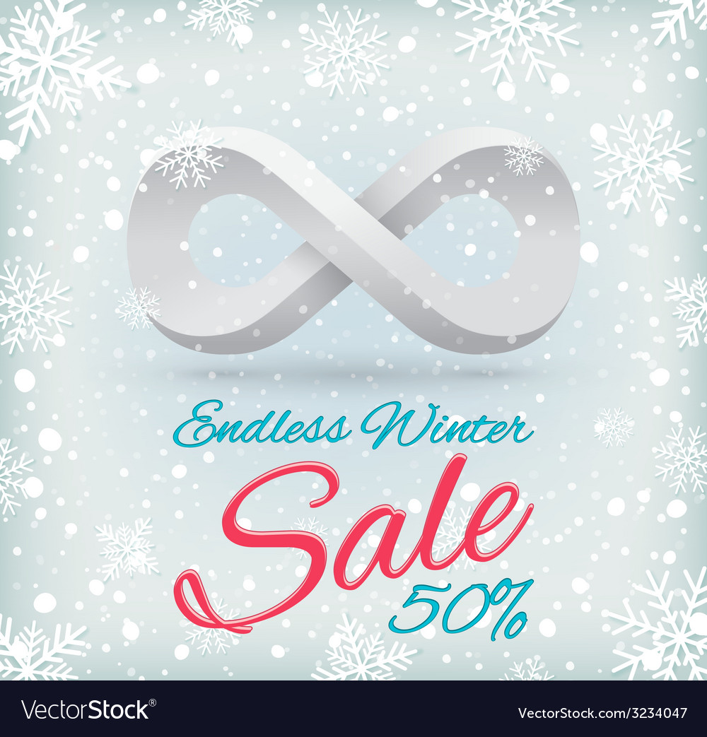 Endless winter sale vector | Price: 1 Credit (USD $1)