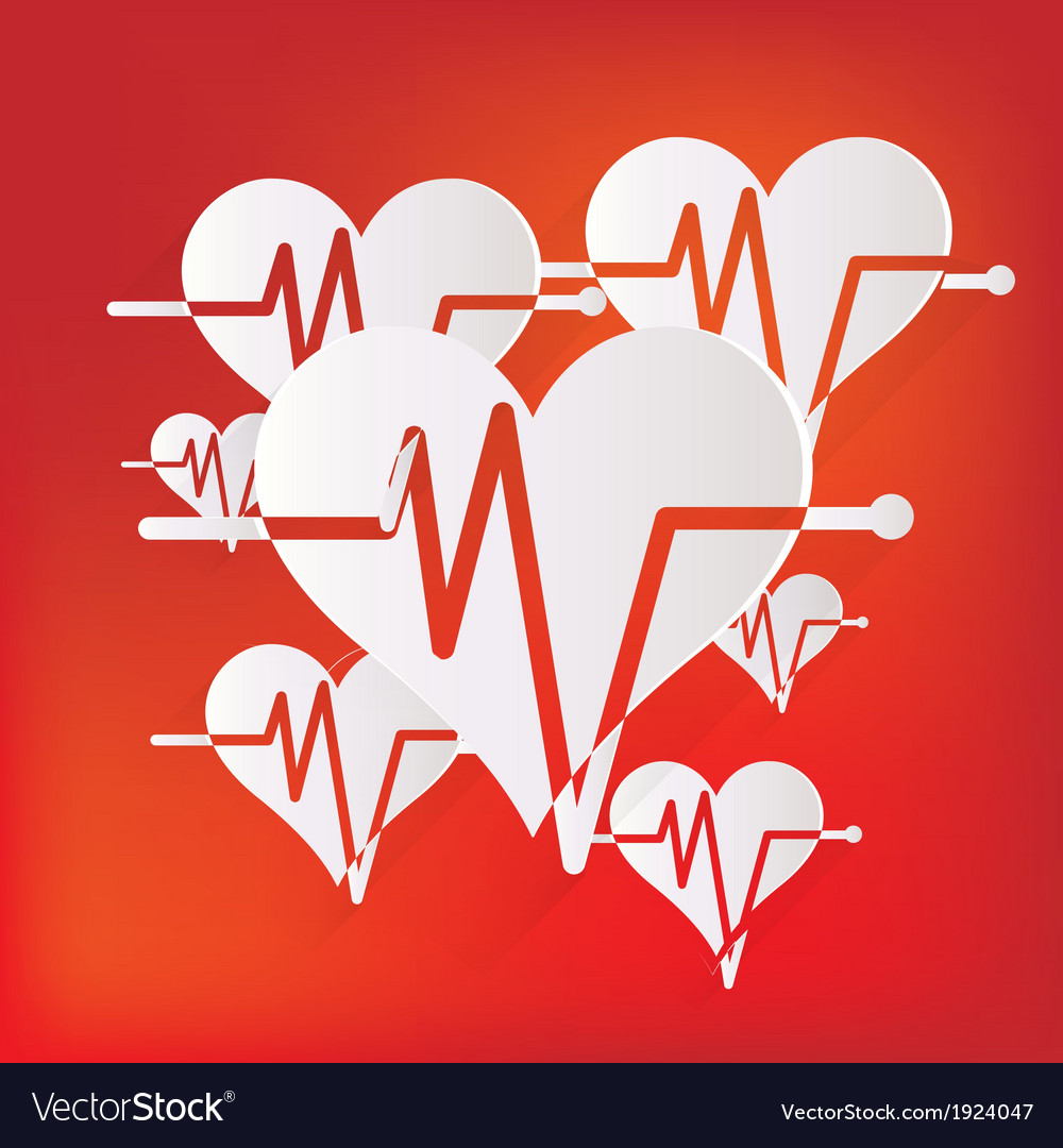 Heart rhytm cardiogramm medical icon vector | Price: 1 Credit (USD $1)