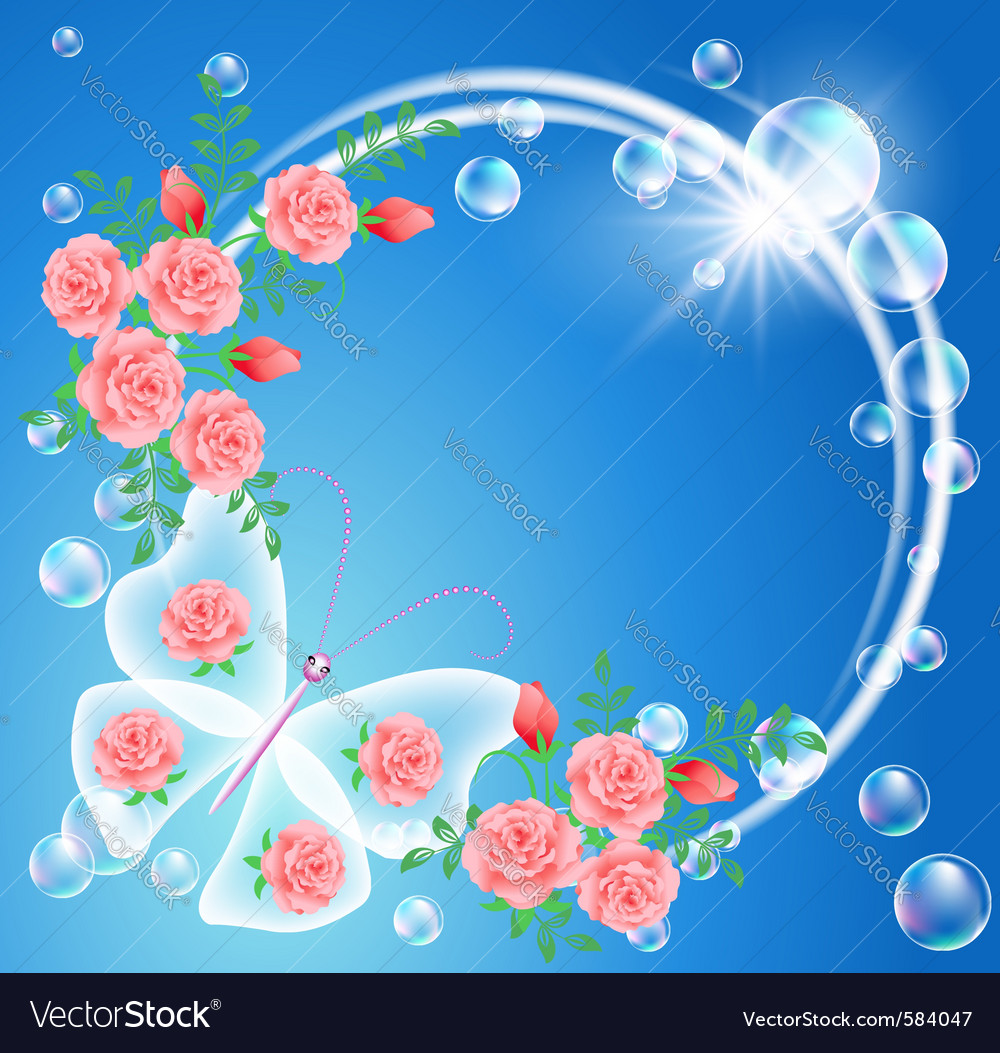 Nature frame vector | Price: 3 Credit (USD $3)
